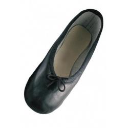 Baletki skórzane BEA90 czarne